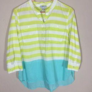 JCP blouse silk cotton blend PXL